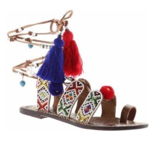 Sam Edelman. Beaded gladiator sandals.